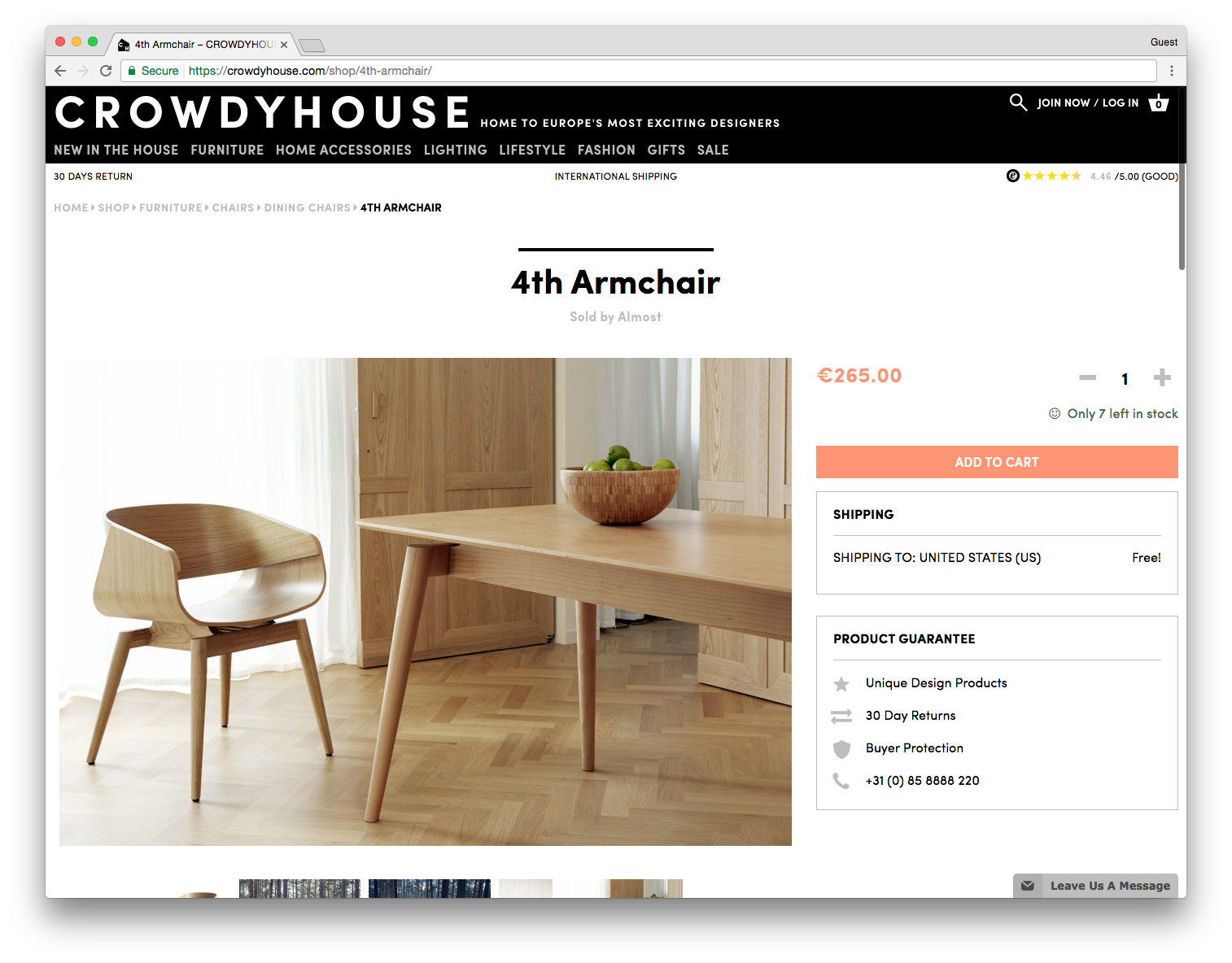 CROWDYHOUSE 4th Armchair Sold by Almost