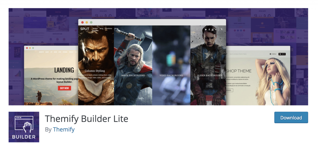 Themify Builder Lite - WordPress Plugin on Shifter